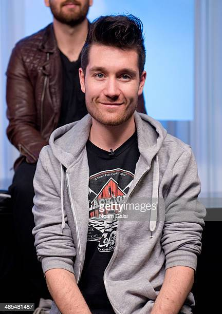 Singer Dan Smith of the band Bastille visits Music Choice on January 27 2014 in New York City