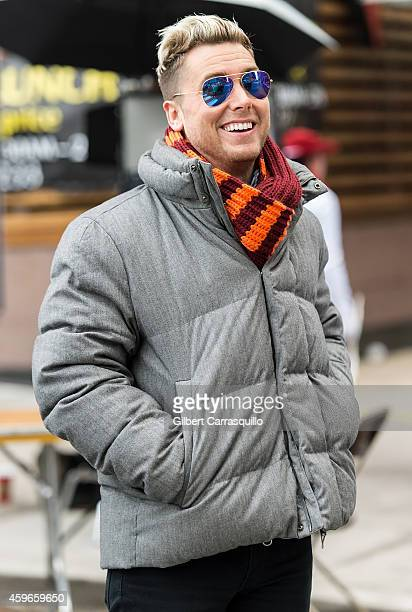 Singer dancer actor film and television producer author Lance Bass attends the 95th Annual 6abc Dunkin' Donuts Thanksgiving Day Parade on November 27...
