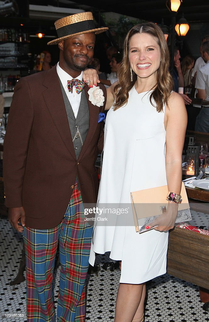 Singer Dandy Wellington and actress Sophia Bush (R) attend Sophia Bush's Birthday Party at Hotel Chantelle on July 8, 2013 in New York City.