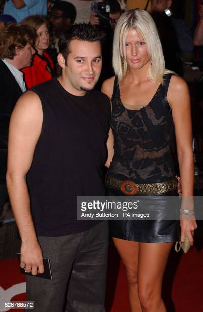 Singer Dane Bowers arrives for the UK film premiere of The Italian Job at the Empire Leicester Square in London