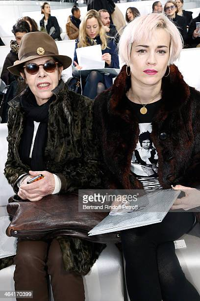 Singer Dani and guest attend the Chanel show as part of Paris Fashion Week Haute Couture Spring/Summer 2014 on January 21 2014 in Paris France