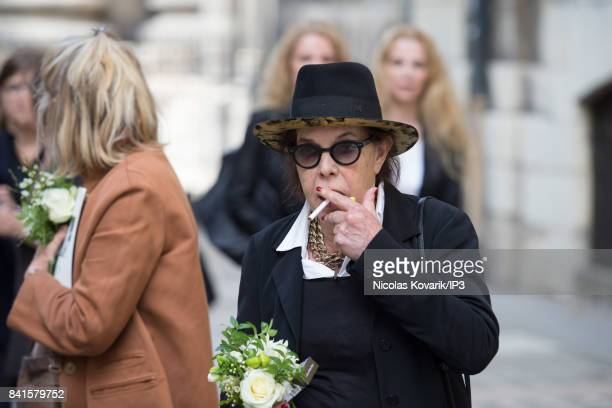 Singer Dani attends Mireille Darc's Funeral at Eglise Saint Sulpice on September 1 2017 in Paris France French actress died aged of 79 years old on...