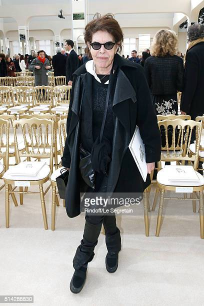 Singer Dani attends the Chanel show as part of the Paris Fashion Week Womenswear Fall/Winter 2016/2017 on March 8 2016 in Paris France