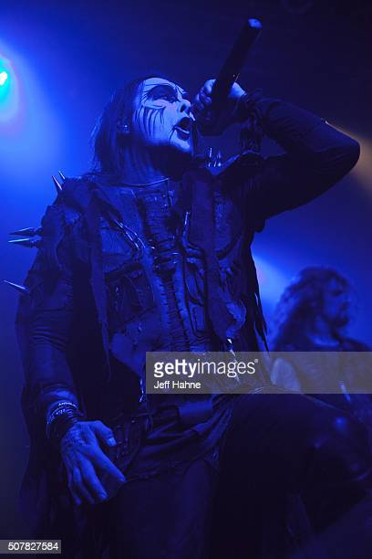 Singer Dani Filth of Cradle of Filth performs at The Fillmore Charlotte on January 31 2016 in Charlotte North Carolina