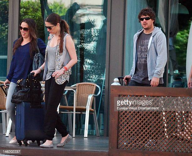 Singer Dani Martin and his girlfriend Huga Rey are seen on May 26 2012 in Cadiz Spain