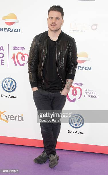 Singer Dani Martin attends 'La noche de Cadena 100' photocall at sports Palace on March 22 2014 in Madrid Spain