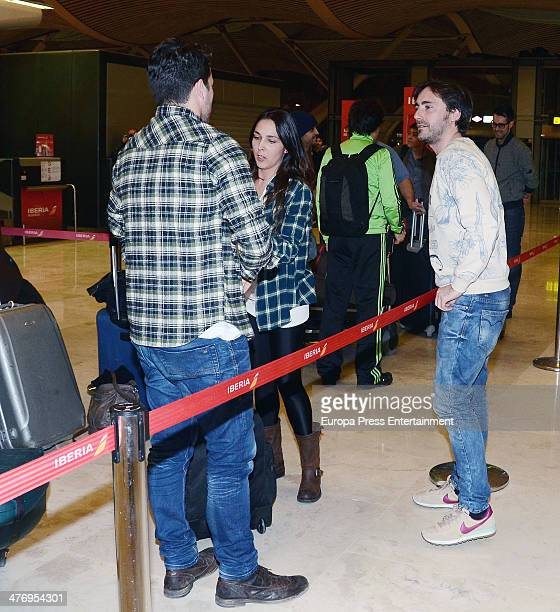 Singer Dani Martin is seen at airport on March 5 2014 in Madrid Spain