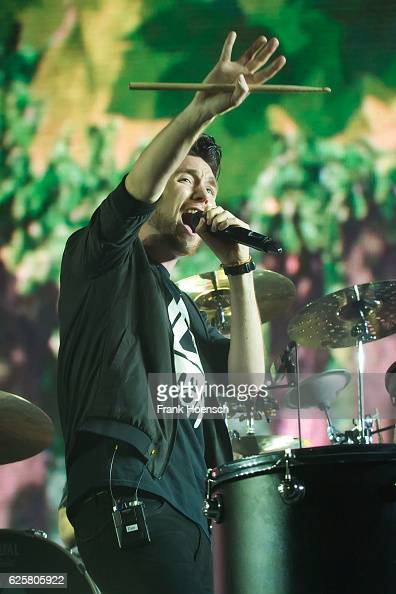 Singer Daniel Campbell Smith of the British band Bastille performs live during a concert at the MaxSchmelingHalle on November 25 2016 in Berlin...