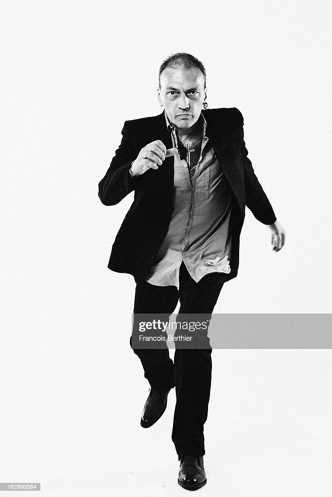 Singer Daniel Darc is photographed for Self Assignment on March 1, 2013 in Paris, France.