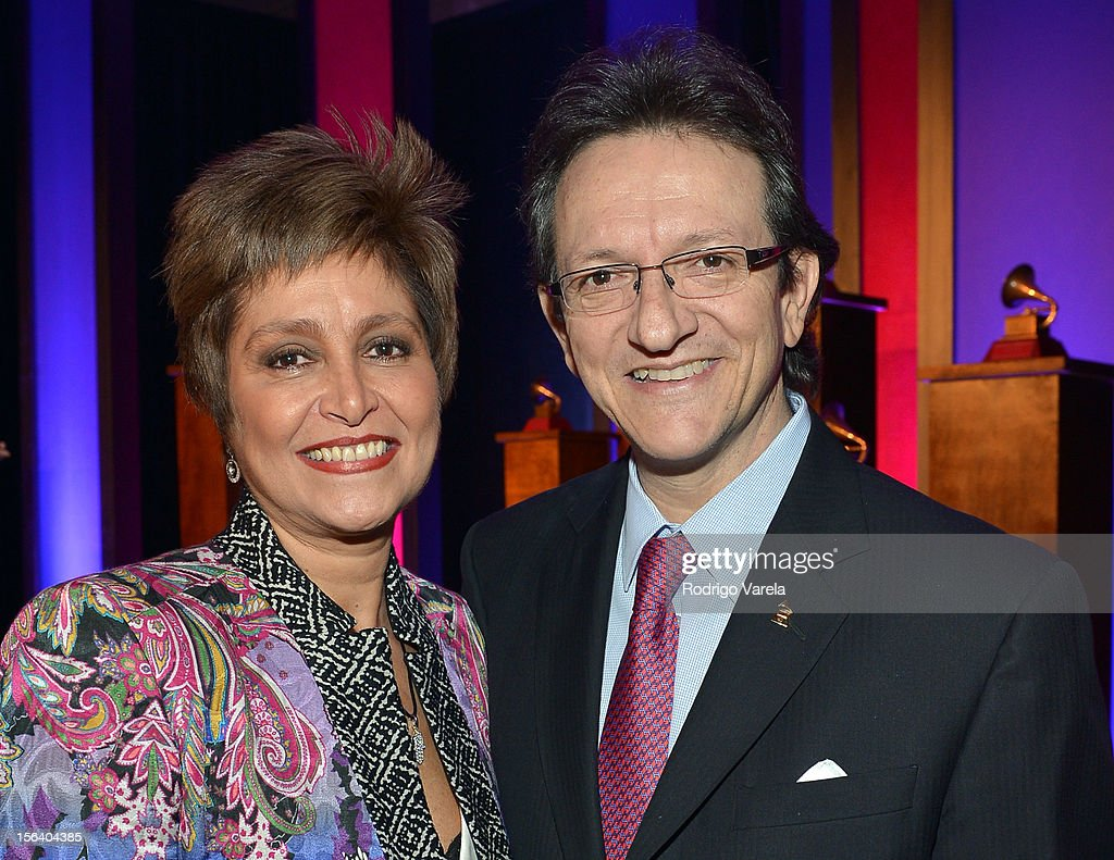 Singer Daniela Romo (L) and President & CEO of the Latin Academy of Recording Arts & Sciences Gabriel Abaroa Jr. attend the 2012 Latin Recording Academy Special Awards during the 13th annual Latin GRAMMY Awards at the Four Seasons Hotel on November 14, 2012 in Las Vegas, Nevada.
