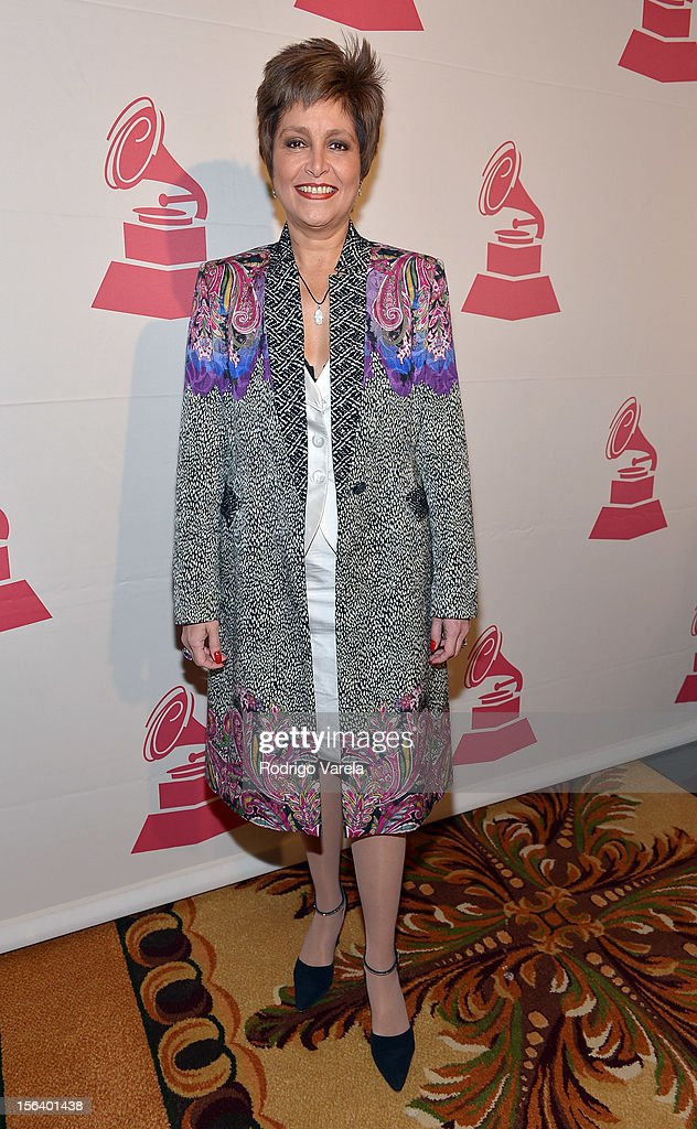 Singer Daniela Romo arrives at the 2012 Latin Recording Academy Special Awards during the 13th annual Latin GRAMMY Awards at the Four Seasons Hotel on November 14, 2012 in Las Vegas, Nevada.