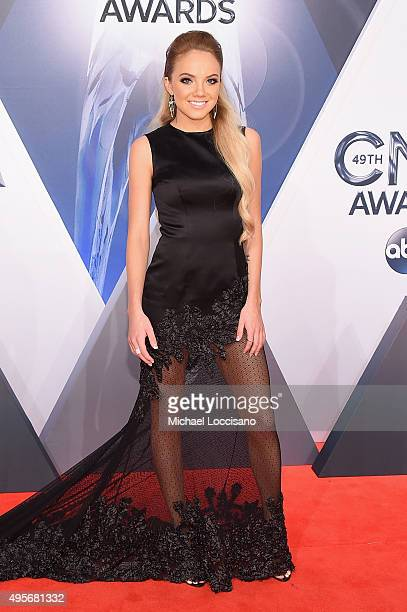 Singer Danielle Bradbery attends the 49th annual CMA Awards at the Bridgestone Arena on November 4 2015 in Nashville Tennessee