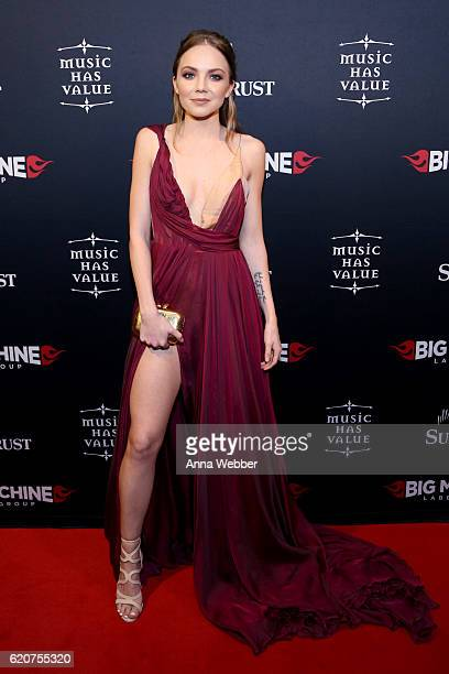 Singer Danielle Bradbery attends the Big Machine Label Group's celebration of the 50th Annual CMA Awards at Marathon Music Works on November 2 2016...