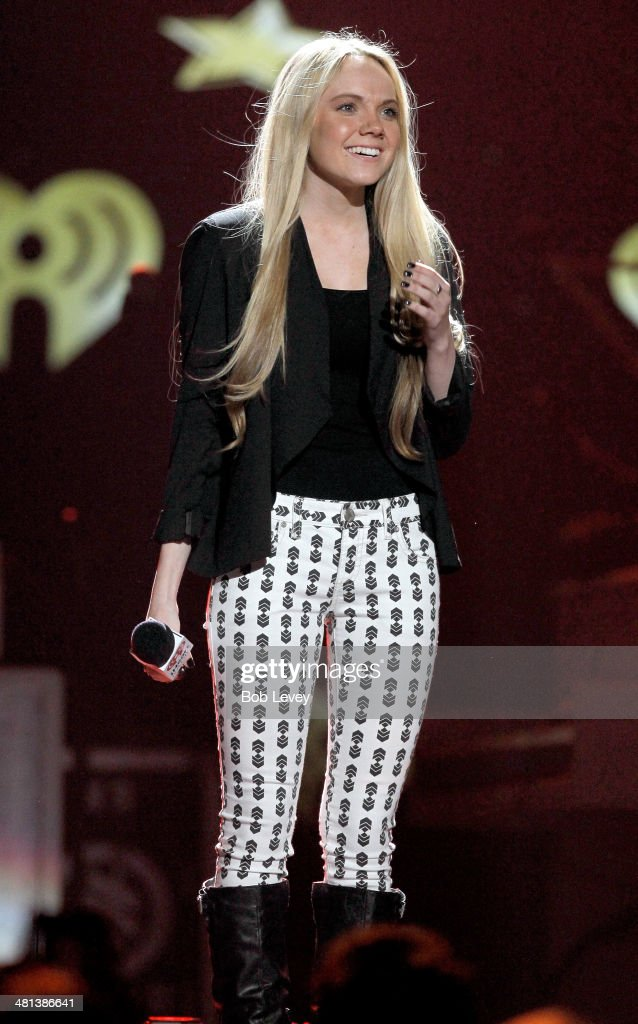 Singer Danielle Bradbery speaks onstage during iHeartRadio Country Festival in Austin at the Frank Erwin Center on March 29, 2014 in Austin, Texas.