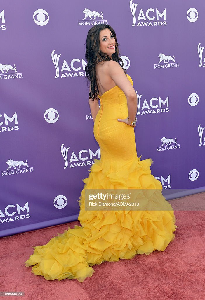 Singer Danielle Peck attends the 48th Annual Academy of Country Music Awards at the MGM Grand Garden Arena on April 7, 2013 in Las Vegas, Nevada.