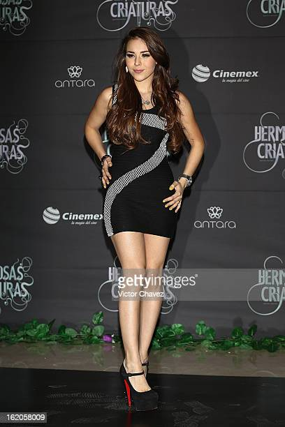 Singer Danna Paola attends the 'Beautiful Creatures' Mexico City premiere at Cinemex Antara on February 18 2013 in Mexico City Mexico