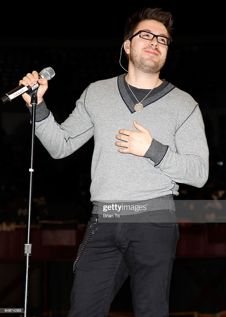 Singer Danny Gokey from American Idol performs at 'Christmas In The City' Charity Toy Drive at LA Sports Arena on December 20, 2009 in Los Angeles, California.