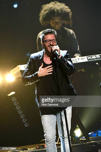 Singer Danny Gokey performs onstage during the 3rd Annual KLOVE Fan Awards at the Grand Ole Opry House on May 31 2015 in Nashville Tennessee