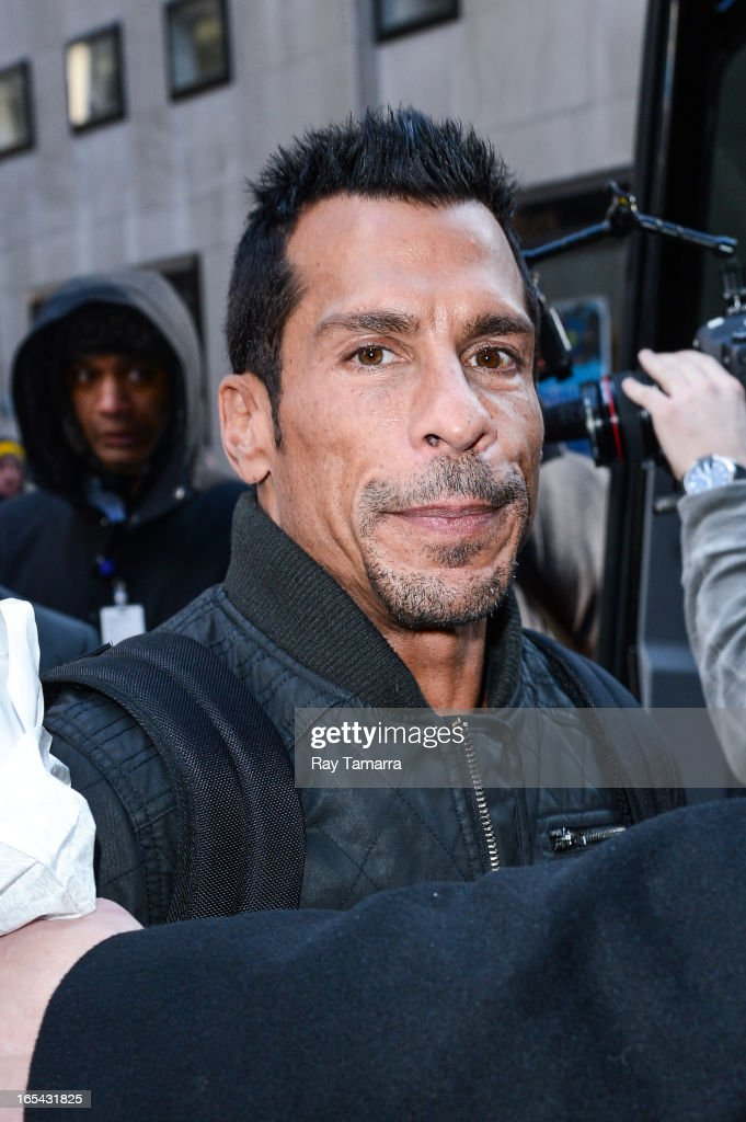 Singer Danny Wood of New Kids On The Block leaves the 'Today Show' taping at the NBC Rockefeller Center Studio on April 3, 2013 in New York City.