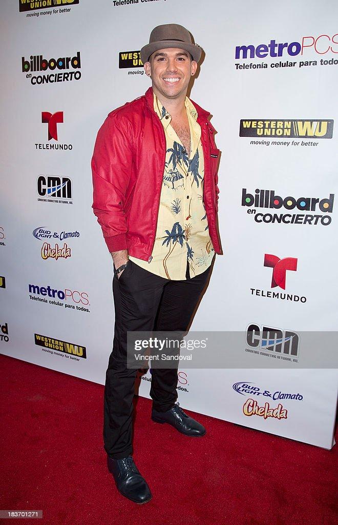 Singer Dario Benitez attends Billboard In Concert Series presents Calibre 50 at The Conga Room at The Conga Room at L.A. Live on October 8, 2013 in Los Angeles, California.