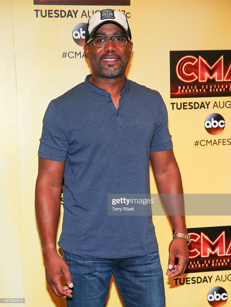Singer Darius Rucker attends a preshow press conference during day 4 of the 2015 CMA Festival on June 14 2015 in Nashville Tennessee