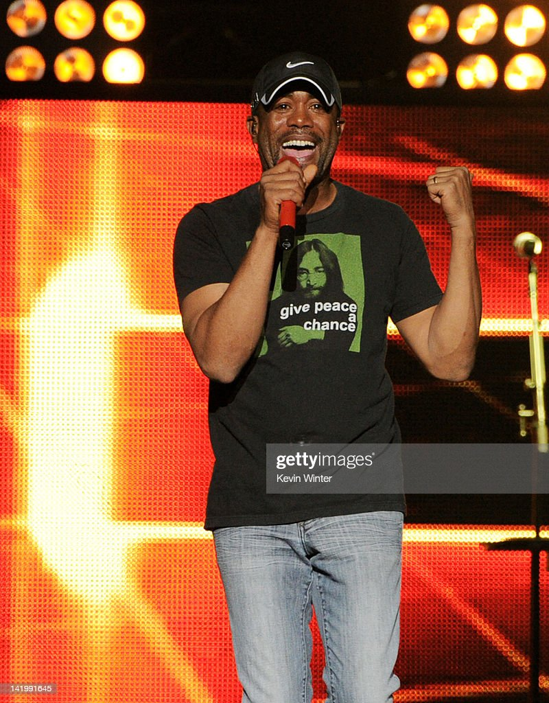 Singer Darius Rucker performs at Staples Center on March 27, 2012 in Los Angeles, California.