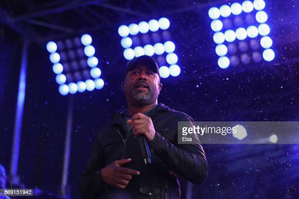 Singer Darius Rucker performs during the 100 Days Out 2018 PyeongChang Winter Olympics Celebration Team USA in Times Square on November 1 2017 in New...