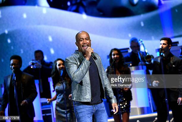 Singer Darius Rucker performs during the CMA 2015 Country Christmas on November 7 2015 in Nashville Tennessee