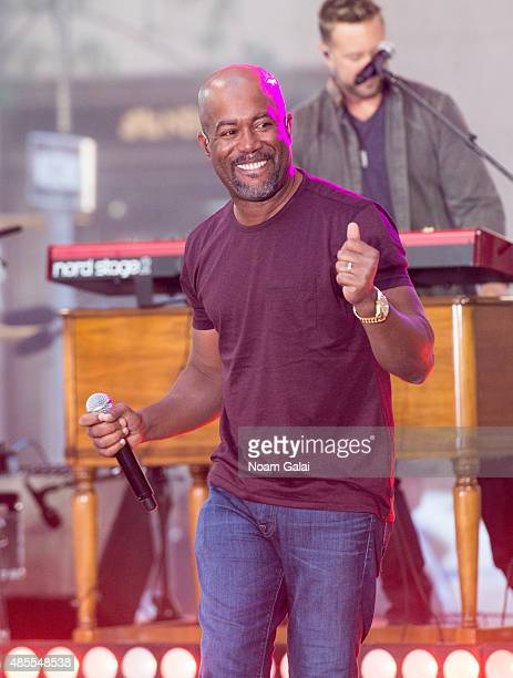 Singer Darius Rucker performs on NBC's 'Today' at Rockefeller Plaza on August 28 2015 in New York City