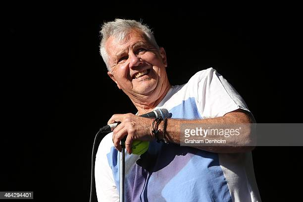 Singer Daryl Braithwaite performs during day 10 of the 2014 Australian Open at Melbourne Park on January 22 2014 in Melbourne Australia