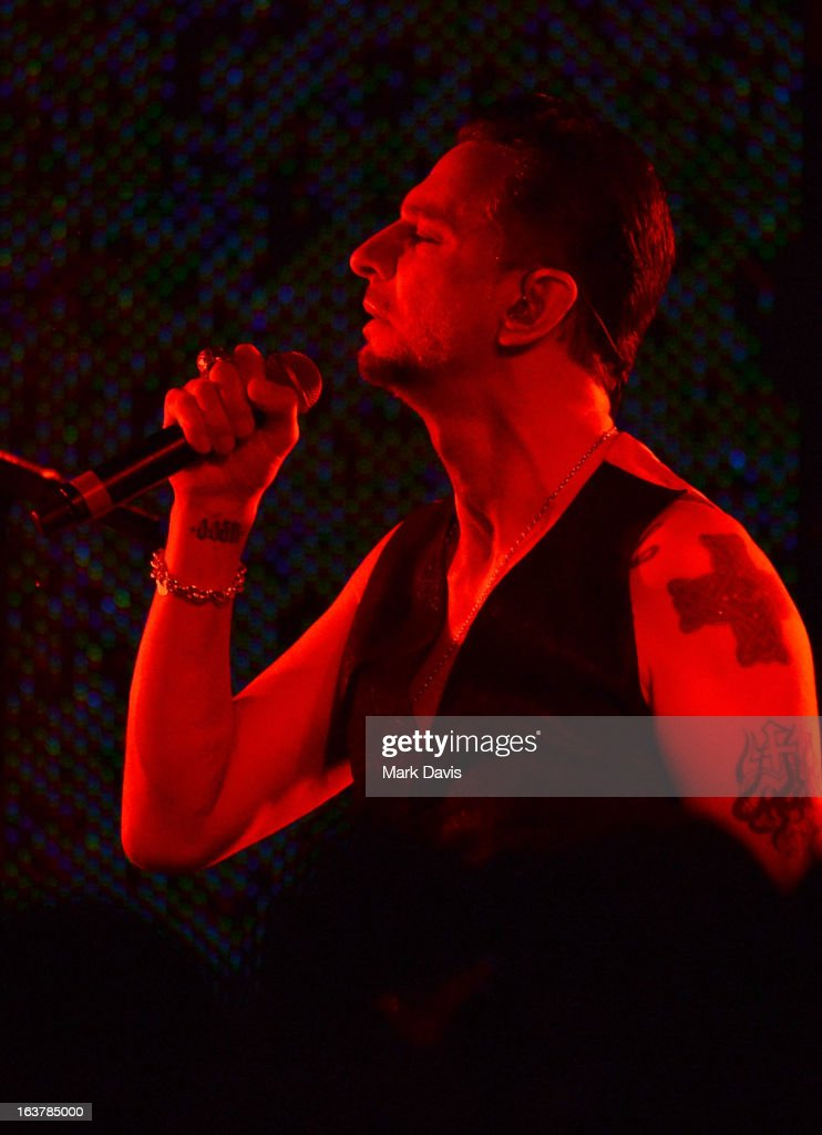 Singer <a gi-track='captionPersonalityLinkClicked' href=/galleries/search?phrase=Dave+Gahan&family=editorial&specificpeople=537515 ng-click='$event.stopPropagation()'>Dave Gahan</a> performs at the SXSW Music Festival Showcase Presented by Yahoo! at the 2013 SXSW Music, Film + Interactive Festival held at the Brazos Hall on March 15, 2013 in Austin, Texas.