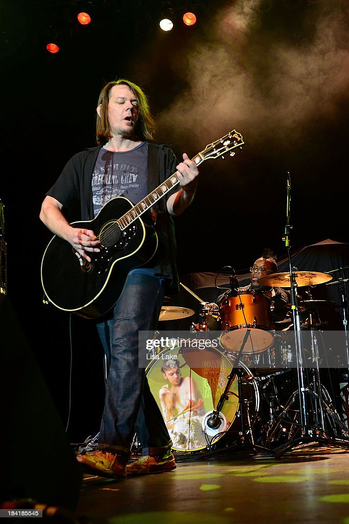 Singer Dave Pirner and drummer Michael Bland of Soul Asylum perform at Sands Bethlehem Event Center on October 11 2013 in Bethlehem Pennsylvania