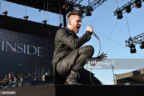 Singer Davey Havok of AFI performs onstage during day 1 of the 2014 Coachella Valley Music Arts Festival at the Empire Polo Club on April 11 2014 in...