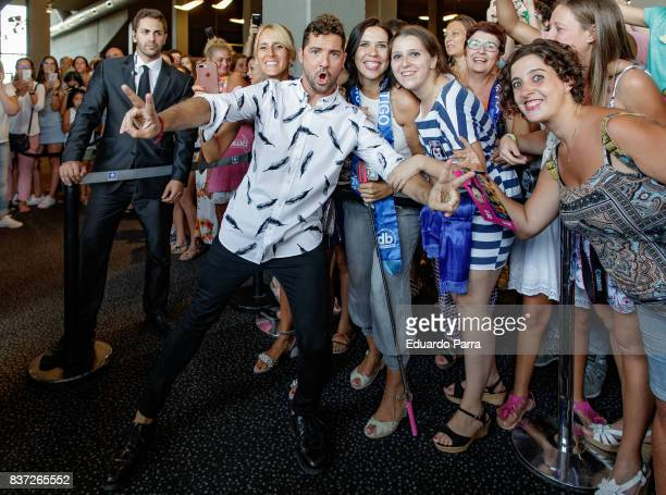 Singer David Bisbal attends the 'Tadeo Jones 2 El secreto del Rey Midas' premiere at Kinepolis cinema on August 22 2017 in Madrid Spain