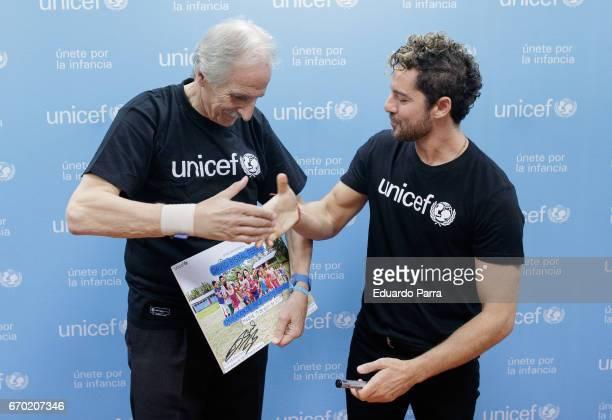 Singer David Bisbal attends the 'UNICEF ambassador' press conference at UNICEF office on April 19 2017 in Madrid Spain