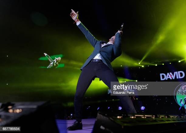 Singer David Bisbal performs at the 'La Noche de Cadena 100' gala at Wizink Center on March 25 2017 in Madrid Spain