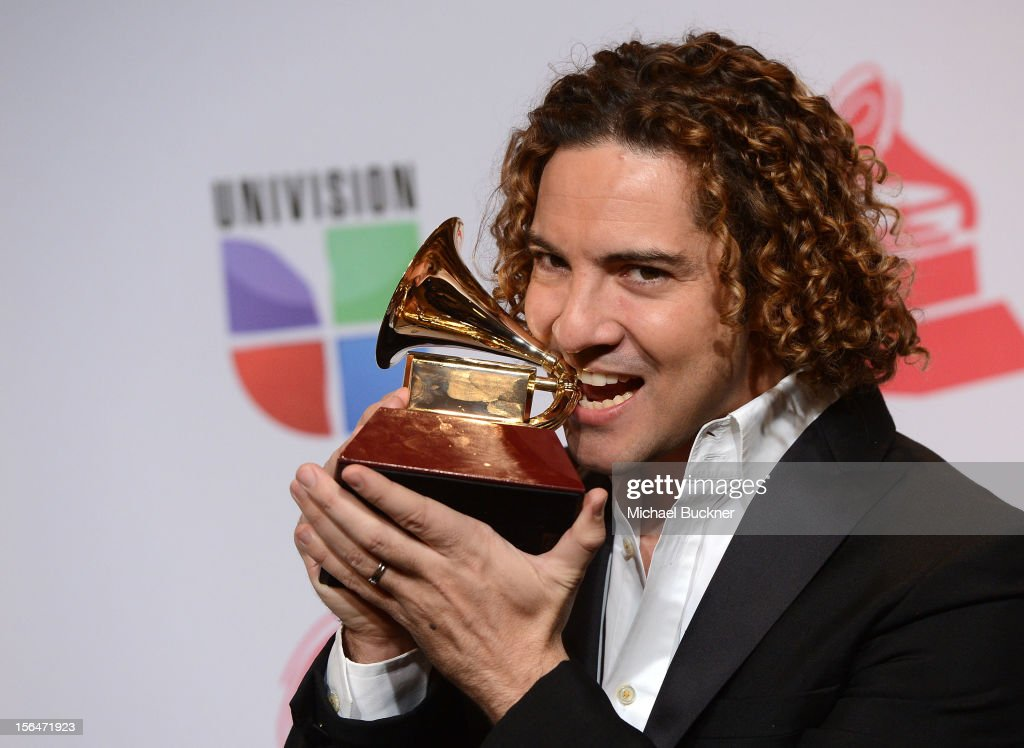 Singer <a gi-track='captionPersonalityLinkClicked' href=/galleries/search?phrase=David+Bisbal&family=editorial&specificpeople=206469 ng-click='$event.stopPropagation()'>David Bisbal</a> poses in the press room during the 13th annual Latin GRAMMY Awards held at the Mandalay Bay Events Center on November 15, 2012 in Las Vegas, Nevada.
