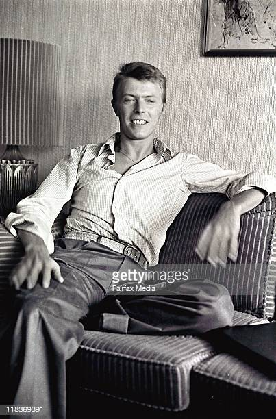 Singer David Bowie at the Sebel Townhouse in Sydney on 6 November 1978