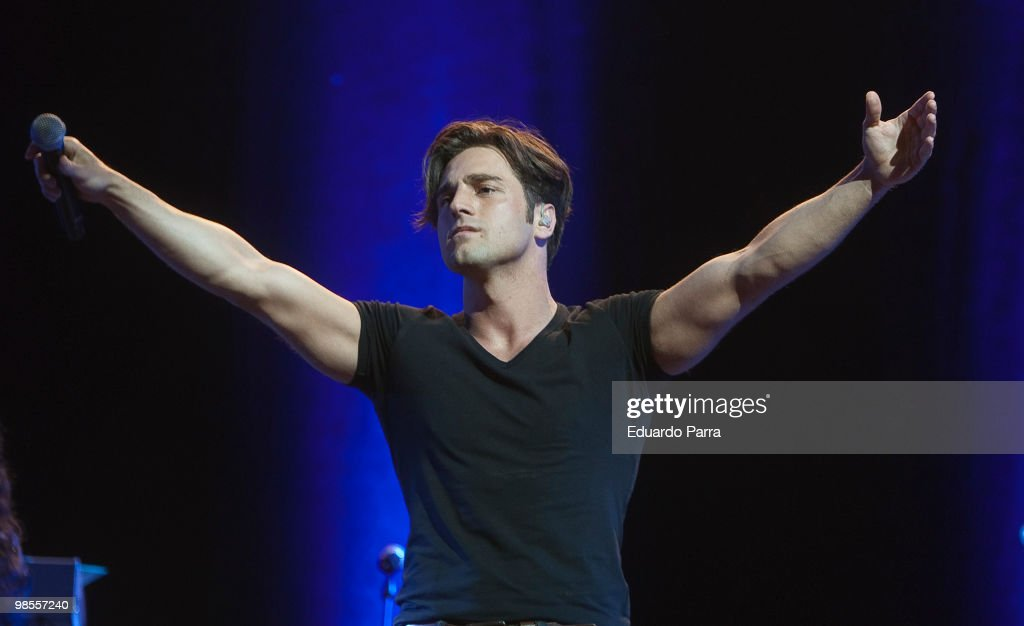 David Bustamante Performs in Concert in Madrid