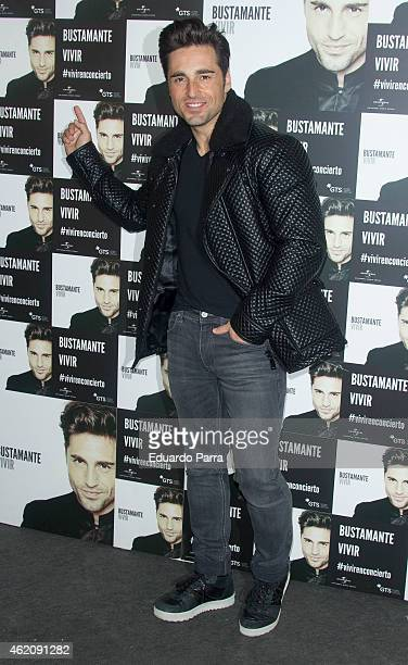 Singer David Bustamante attends the David Bustamante concert photocall at Price Circus on January 24 2015 in Madrid Spain