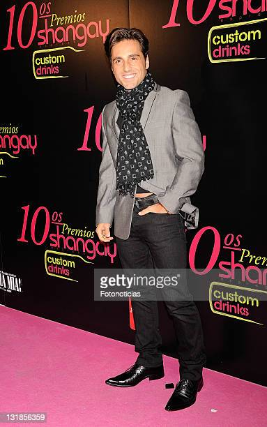 Singer David Bustamante attends the 'Shangay Awards' 2010 at the Coliseum Theatre on November 30 2010 in Madrid Spain