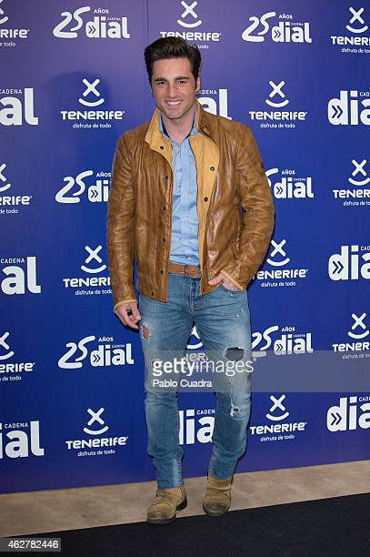 Singer David Bustamante poses during a photocall to present 'Dial Awards' at 'Casino Gran Via' on February 5 2015 in Madrid Spain