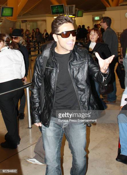 Singer David Bustamante sets off for Latin America on October 22 2009 in Madrid Spain