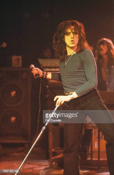 Singer David Coverdale of English rock band Deep Purple in concert 1974