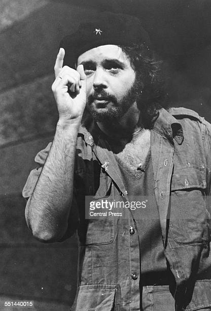 Singer David Essex is costume as Che Guevara in a scene from the musical 'Evita' at the Prince Edward Theatre London June 12th 1978