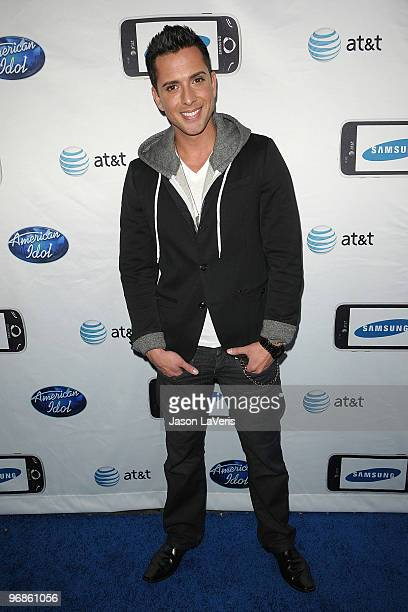 Singer David Hernandez attends the 'American Idol' top 24 red carpet event at STK on February 18 2010 in Los Angeles California
