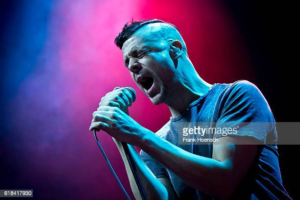 Singer David Jakes of the British band Lonely the Brave performs live in support of Biffy Clyro during a concert at the MaxSchmelingHalle on October...