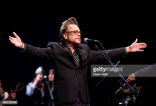 Singer David Johansen performs during the 34th Annual John Lennon Tribute Benefit Concert at Symphony Space on December 5 2014 in New York City
