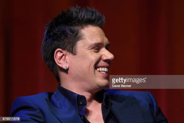 Singer David Miller of Il Divo attends a news conference announcing the group's September sixshow headlining engagement 'Il Divo This is Your Night...