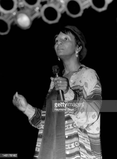 Singer Dawn Penn performs at the Hyatt Hotel in Chicago Illinois in JUNE 1994